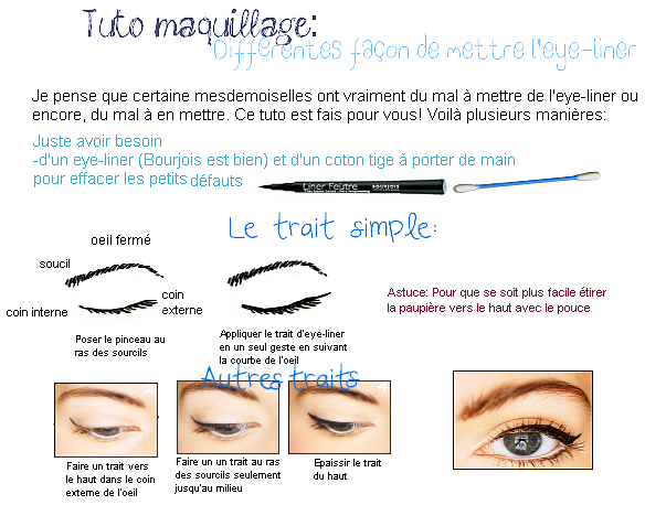 Plusieurs fa on de mettre l 39 eye liner - Comment mettre eye liner ...