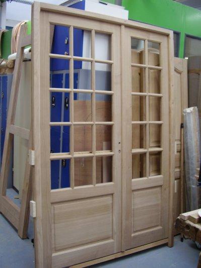 Porte de garage 4 vantaux bois trouvez le meilleur prix for Fabriquer une porte de garage 4 vantaux